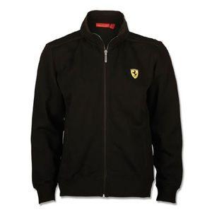 Ferrari Puma Black Zippered Sweatshirt Jacket S